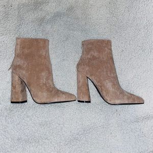 Brand new tan suede ankle booties!